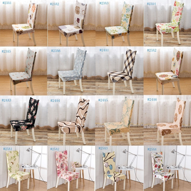 Removable Chair Protector Stretch Slipcovers Short Dining Room Stool Seat CoverS