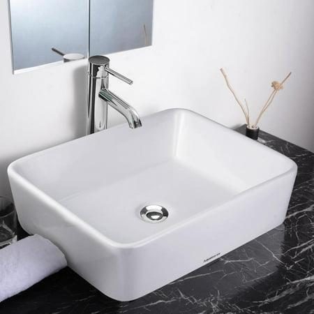 Walmart: Aquaterior Rectangle Bathroom Vessel Sink Only $49.95