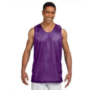 Men's Active Reversible Mesh Tank (Purple/ White) (Small)