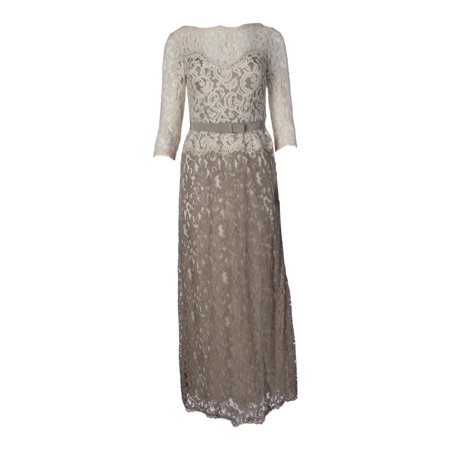 Tadashi Shoji Womens Pees 3 4 Sleeve Lace Mother Of The Bride Dress
