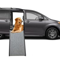Mind Reader Dog Foldable Car Ramp, Brown