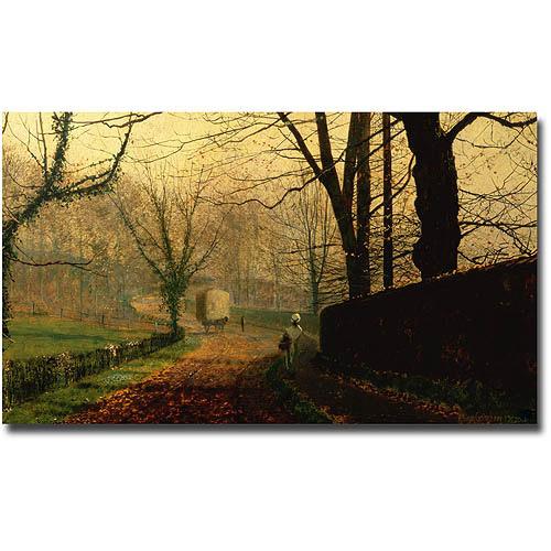 "Trademark Fine Art ""Autumn Sunshine, Stapleton Park near Pontefract"" Canvas Wall Art"