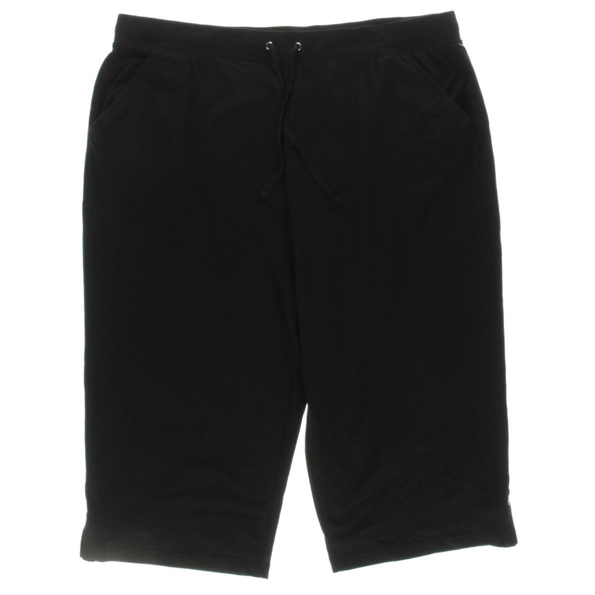 Karen Scott Womens Plus Drawstring Capri Lounge Pants