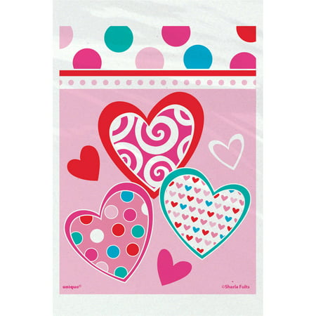Bright Hearts Valentine's Day Treat Bags, 50ct](Valentines Treats)