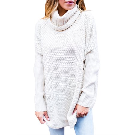 Autumn Winter Women Turtle Neck Casual Pullover (Columbia Winter Sweater)