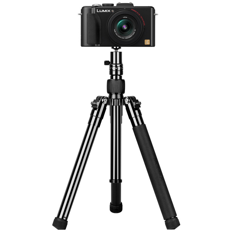 "MOMAX Compact Tripod, 52 Inch 1.87lbs Lightweight Aluminum Alloy Camera Tripod Monopod Stand with Phone Grip+360 Degree Ball Head + 1/4"" Quick Release for DV Canon Nikon Sony DSLR Cameras,Black"
