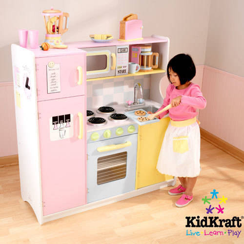 KidKraft Ultimate Corner Play Kitchen With Lights Sounds - Kidkraft ultimate corner play kitchen with lights and sounds
