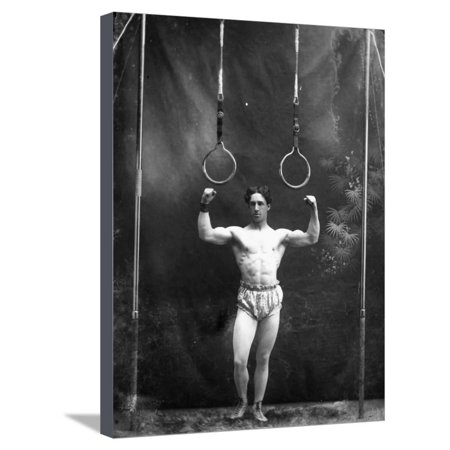 Circus Strongman, 1885 Stretched Canvas Print Wall Art - Circus Strongman