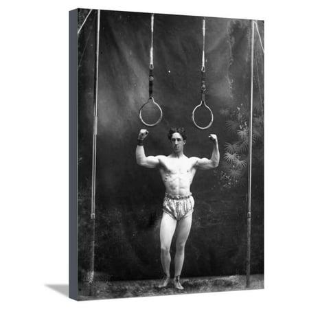 Circus Strongman, 1885 Stretched Canvas Print Wall Art - Circus Strongman