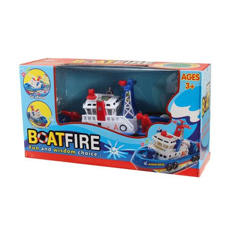 For Baby Children Kid Toy  Electric Rescue Ship Fire Boat Water Squirts Light
