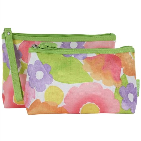 Clinique 2pc Cosmetic Bag Set - Watercolors