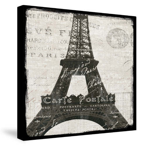 Laural Home Eiffel Tower by Sue Schlabach Graphic Art on Canvas