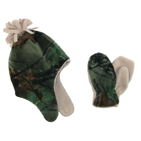 0e929e3a1f2 Grand Sierra Boys  2-4 Fleece Camouflage Hat and Mitten Winter Set -  Walmart.com