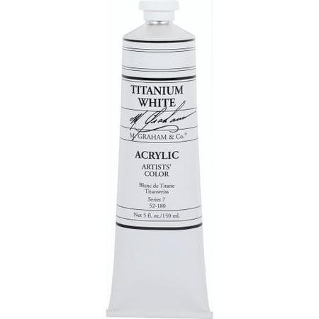 M.GRAHAM & CO. 52180 M GRAHAM TITANIUM WHITE 150ML TUBE ACRYLIC - White Acrylic Paint