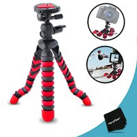 """12"""" Inch Flexible Tripod with Quick Release Plate for Canon EOS Rebel T6 T6i T6S T5i T5 T4i T3i T3 T2i SL1 EOS 70D 60D 7D EOS M3 M2 T1i XTi XT SL1 XSi 7D Mark II DSLR Cameras"""