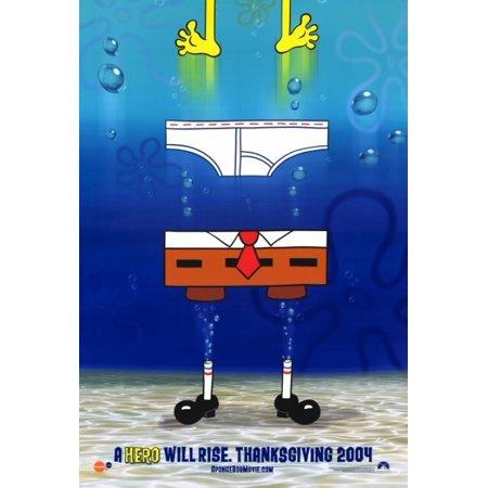 Spongebob Squarepants Movie Movie Poster Print  27 X 40