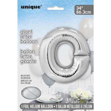 """Silver Letter Shaped Foil Helium Balloon 34"""", Packaged - image 2 of 2"""