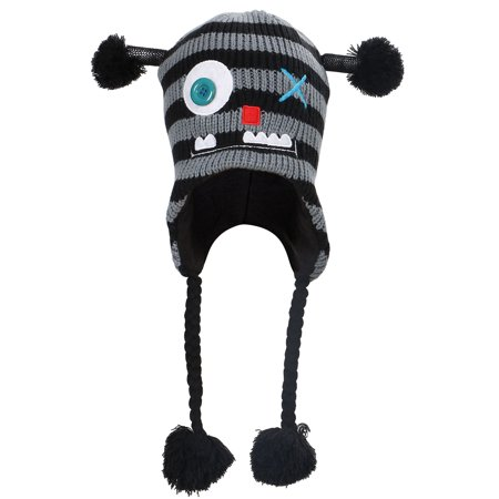 cfaf96d5f Simplicity Fleece Lined Knit Animal Hat w/ Earflaps, Novelty Ski Cap,  MONSTER JR