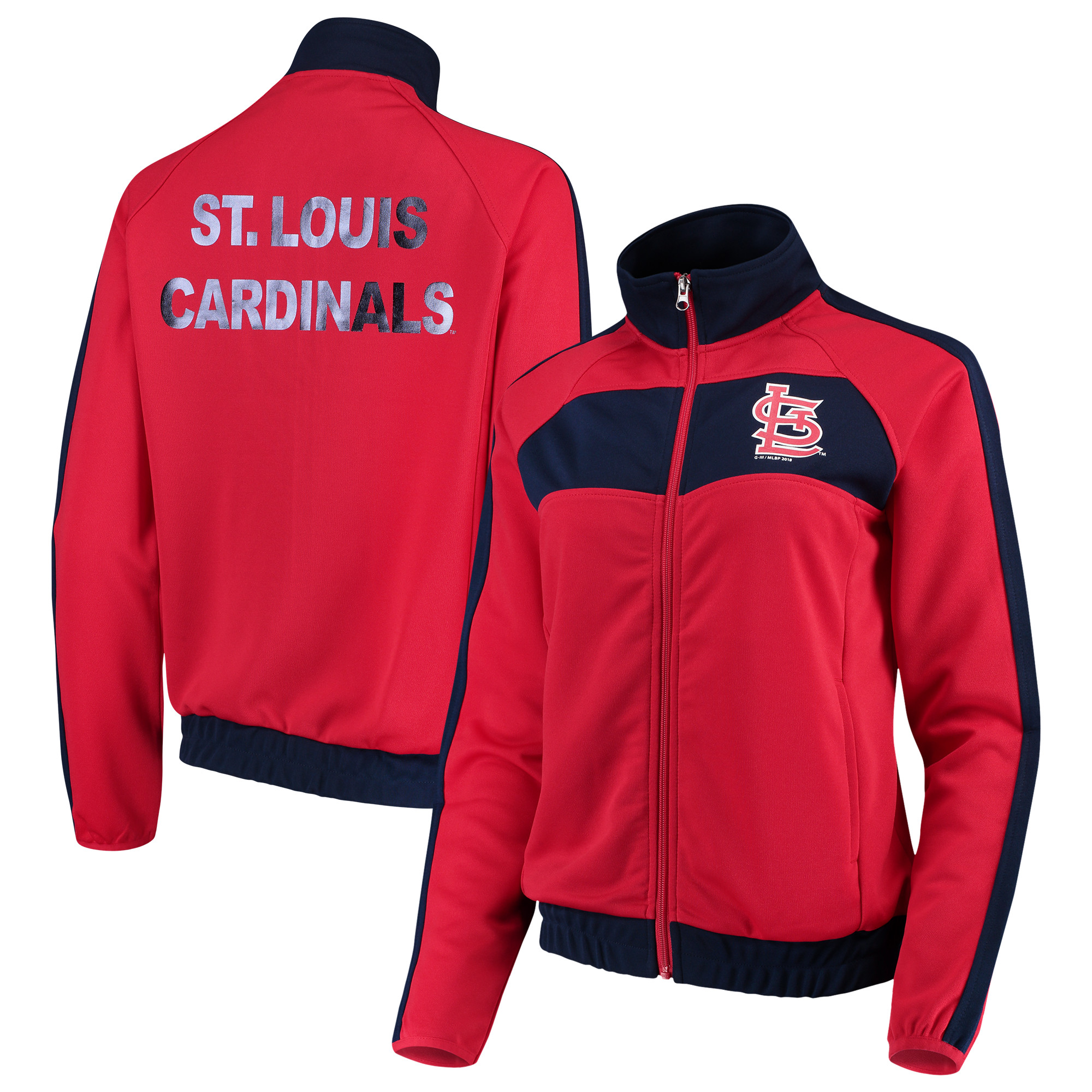 St. Louis Cardinals G-III 4Her by Carl Banks Women's Punt Track Jacket - Red/Navy