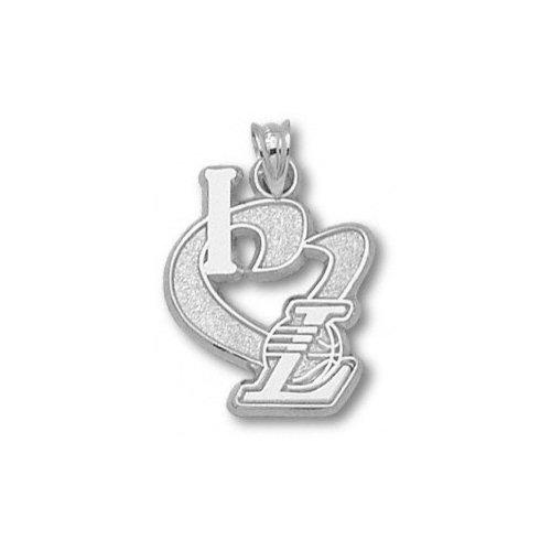 NBA - Los Angeles Lakers 3/4'' Sterling Silver ''I Heart'' Logo Pendant