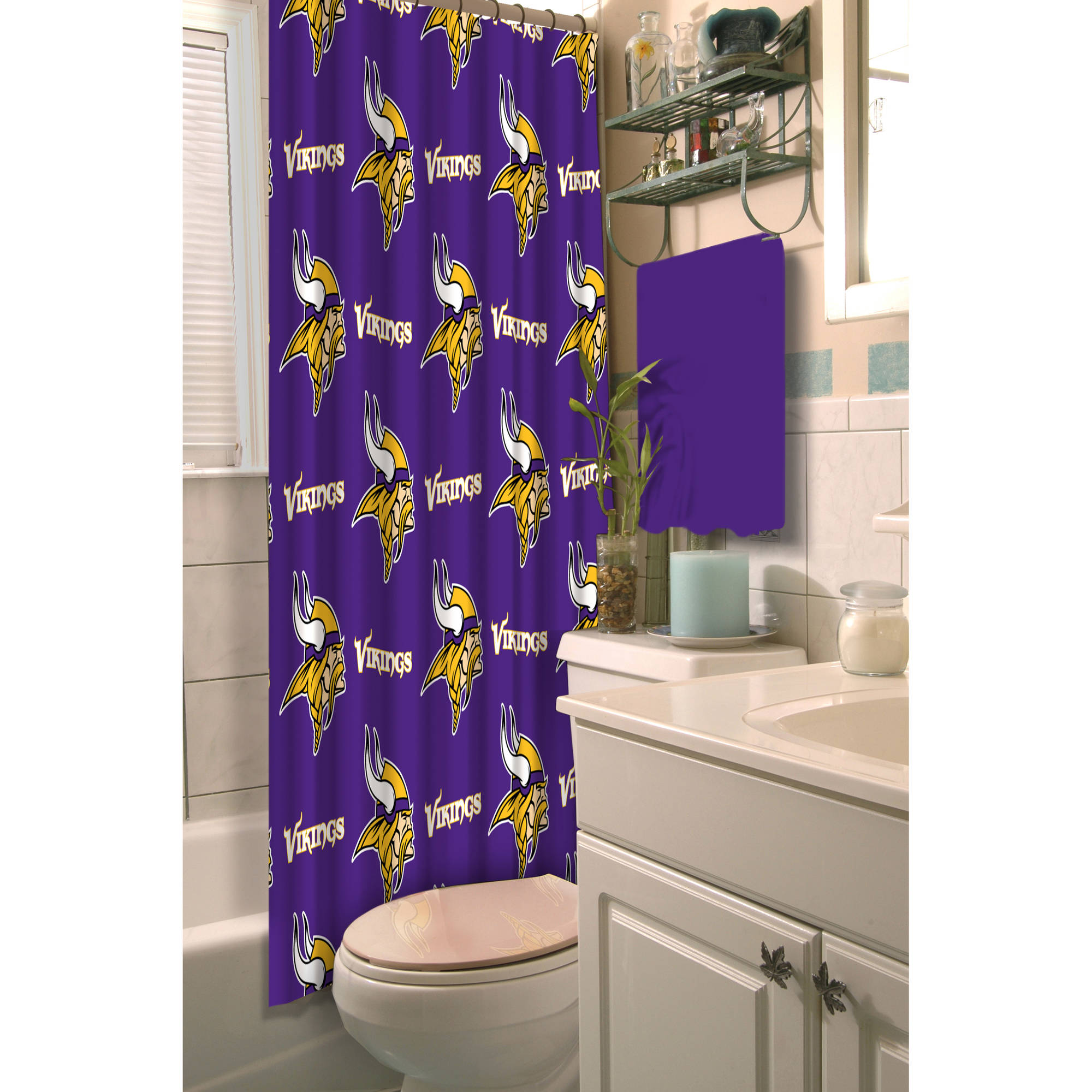 NFL Shower Curtain, Vikings