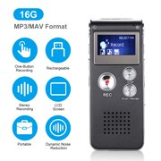 N28 8GB/16GB Digital Voice Recorder Mini Portable LCD Screen Rechargeable Telephone Audio Recorder MP3 Player Dictaphone