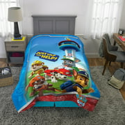 PAW Patrol Microfiber Comforter, Kids Bedding, Blue, Rescue Crew, TWIN