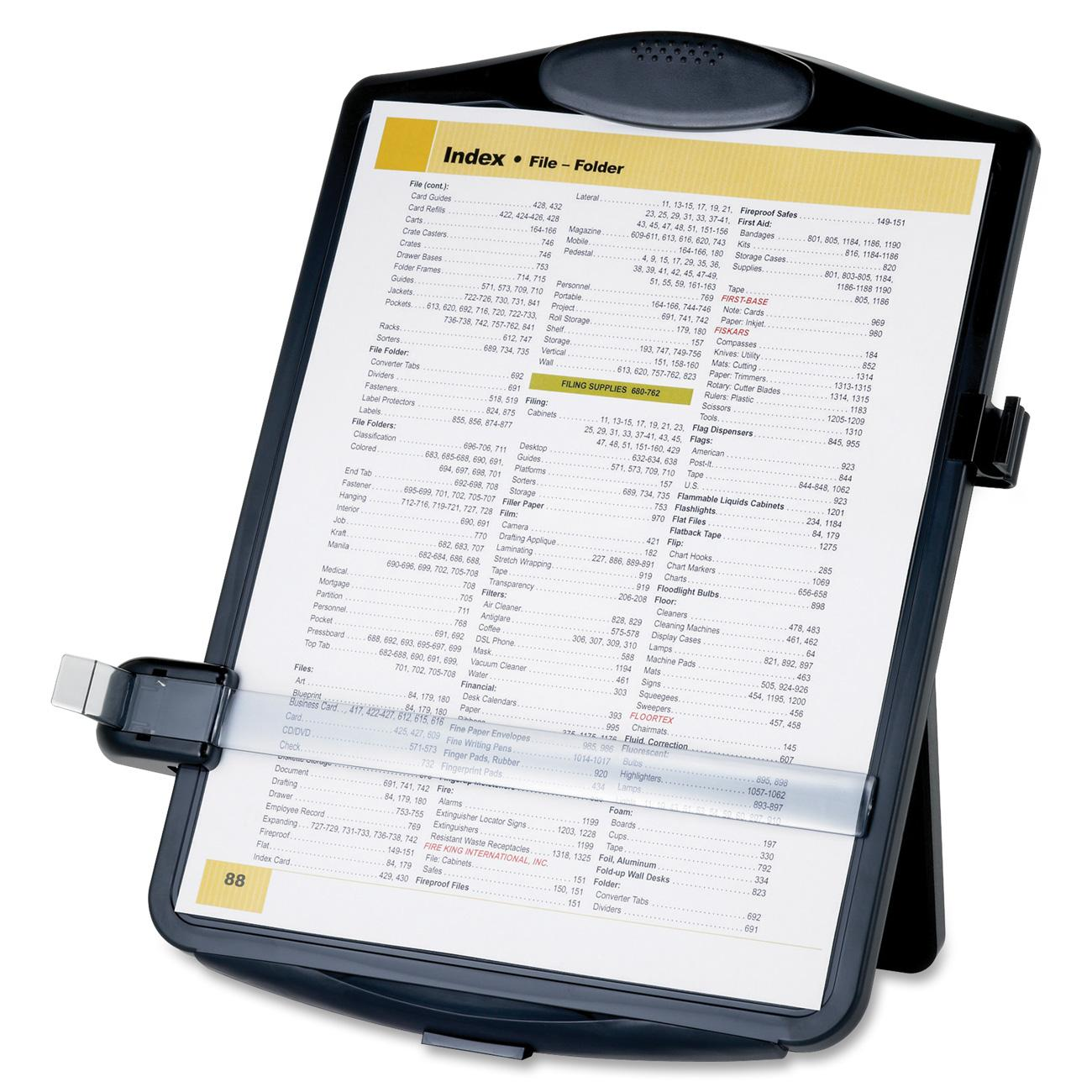 Sparco Products Easel Document Holders, Adjustable, 10''x2''x14'', Black