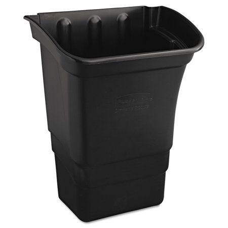 Box Utility Cart - Rubbermaid Commercial Optional Utility Cart Refuse/Utility Bin, Rectangular, 8gal, Black