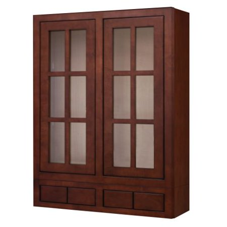 Sagehill Designs Ldw3042gd4 Lakewood 30 X 42 Kitchen Wall Cabinet With Gl Doors And