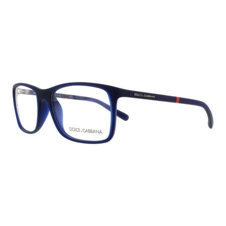 de6081ef5c0d DOLCE   GABBANA Eyeglasses DG 5004 2981 Opal Blue Rubber 55MM - Walmart.com