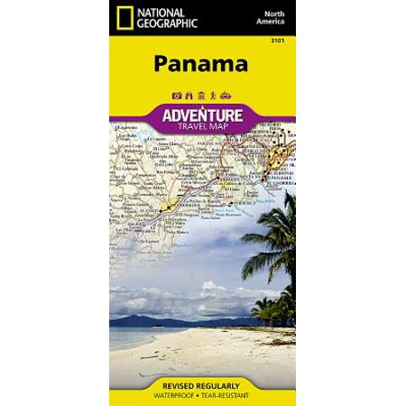Adventure map: panama - folded map: 9781566952606 (A Map Of The Country Of Panama)