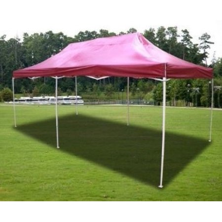 New MTN-G Burgundy Deluxe EZ up Canopy Pop Up Tent 20' X 10
