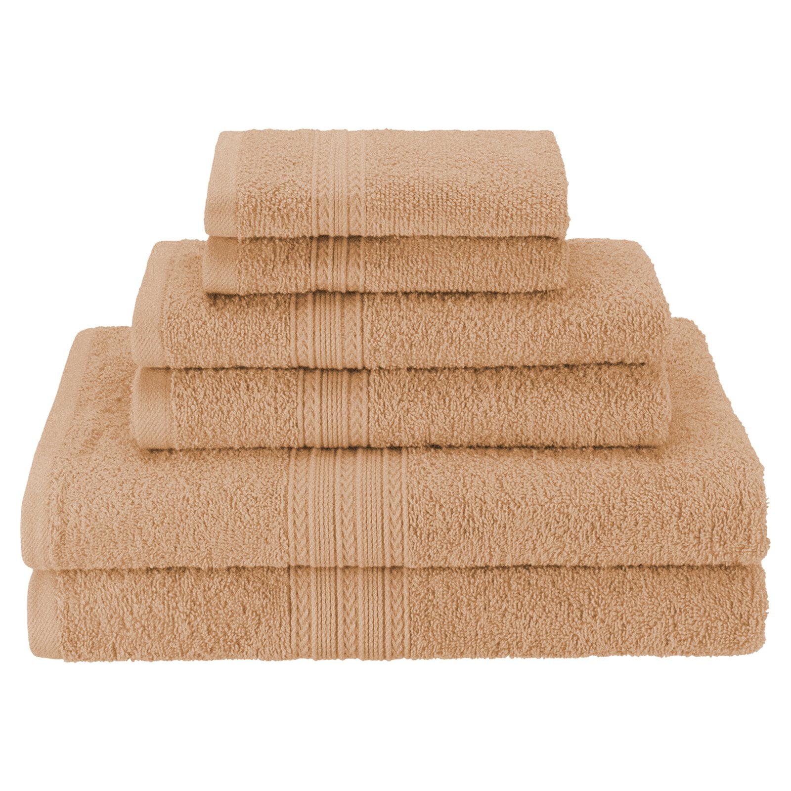 Superior Eco-Friendly 100% Ringspun Cotton 6Pc Towel Set