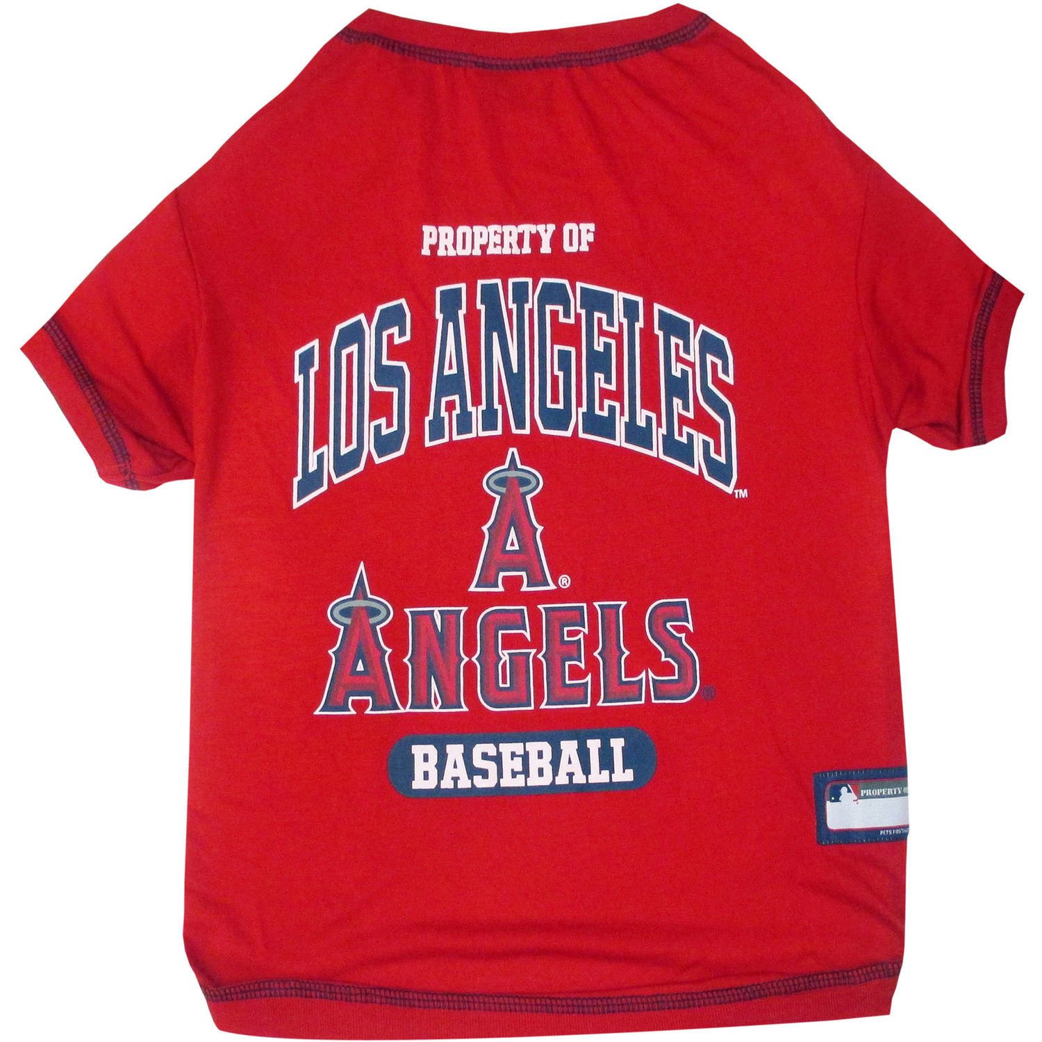 Pets First MLB Los Angeles Angels Pet Tee Shirt