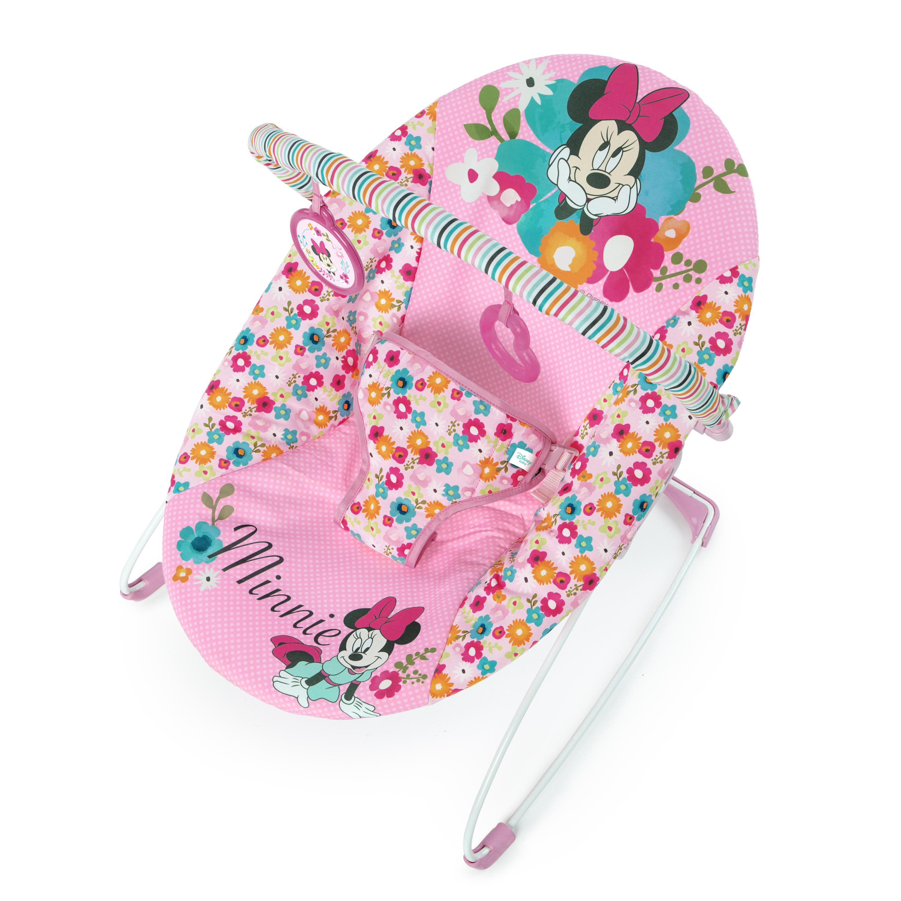 Disney Baby Minnie Mouse Bouncer Seat- Perfect in Pink