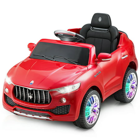 Magic Swing Car - Costway 6V Licensed Maserati Kids Ride On Car RC Remote Control Opening Doors MP3 Swing Red