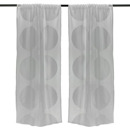 DII Sheer Lace Decorative Curtain Panels For Bedroom, Living Room, Guest Room, Tall Ceilings Large Wide Windows, Set of 2, 50 x 108