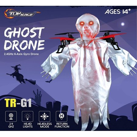 Top Race Halloween Ghost Drone, 6 Gyro 2.4 GHz Flying Ghost Quadcopter Drone Best Halloween Prank - - Best Halloween Pranks To Do