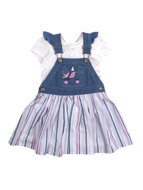 aaf9b660c Product Image Unicorn Pocket Skirtall and Tee, 2-Piece Outfit Set (Little  Girls). Product TitleNannetteUnicorn ...
