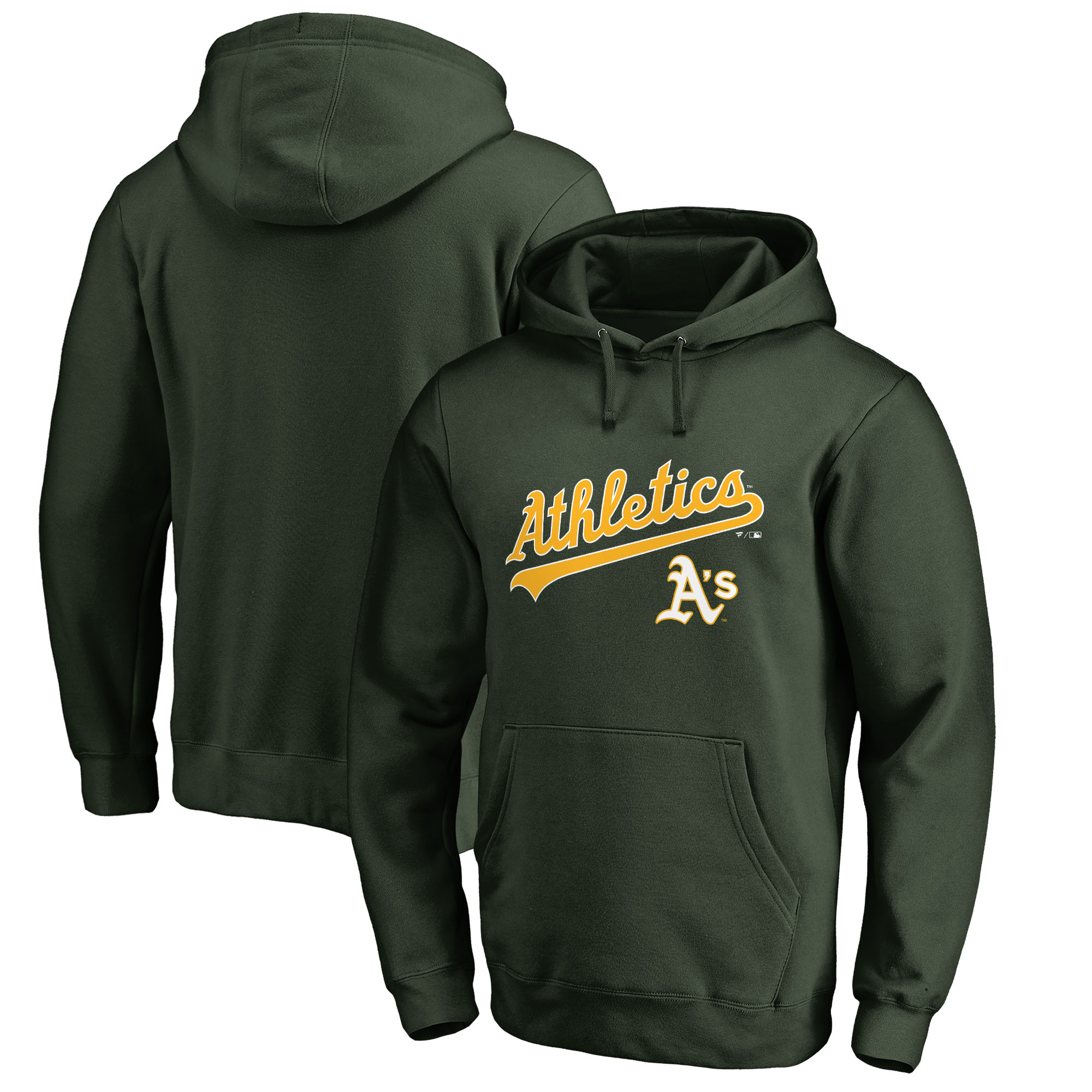 Oakland Athletics Fanatics Branded Team Lockup Pullover Hoodie - Green