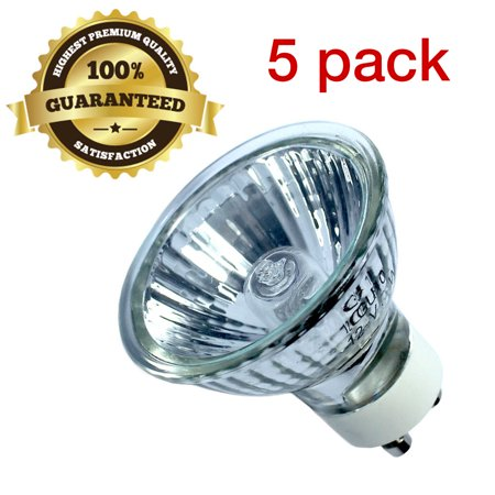 GU10 12V 20W Bulb Halogen Flood Light Bulb Dimmable w/ Cover Glass, - 20w Halogen Light Bulb