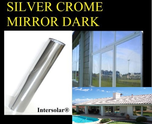 """36/"""" x50/' Silver CHROME MIRROR Window Tint Car Home Commercial HP 2ply 20/%"""