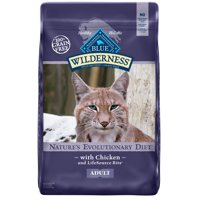 Blue Buffalo Wilderness High Protein Grain Free Adult Dry Cat Food, Chicken, 12-lb