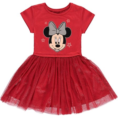 Disney Girls' Minnie Mouse Tutu Dress with Tulle Skirt (S-6/6X) - Minnie Mouse First Birthday Dress
