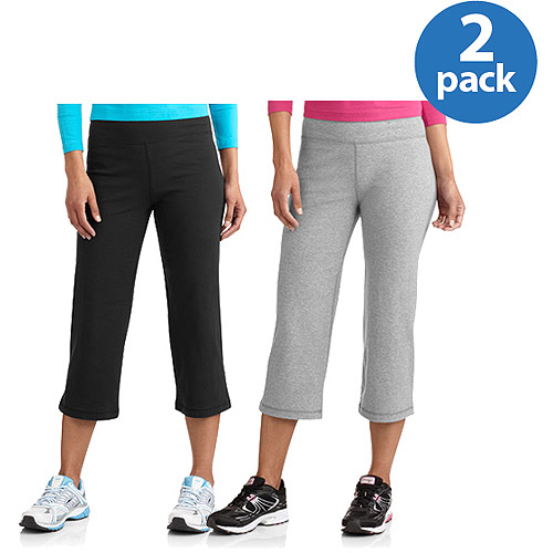 Danskin Now Women's Dri-More Capri Pants 2-Pack Bundle