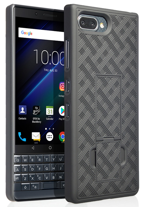 the best attitude 7936a e5dd1 BlackBerry Key2 LE Case, Nakedcellphone Slim Ribbed Rubberized Hard Shell  Cover [with Kickstand] for BlackBerry Key2 LE Phone [[ONLY FOR LE MODEL]]  ...