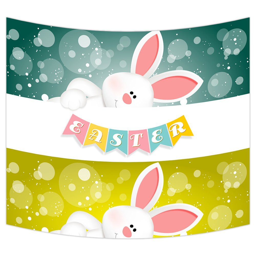 GCKG Happy Easter Cute Rabbits Wall Art Tapestries Home Decor Wall ...
