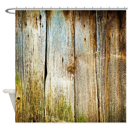 CafePress - Rustic Distressed Barn Wood (Faux) - Unique Cloth Shower Curtain