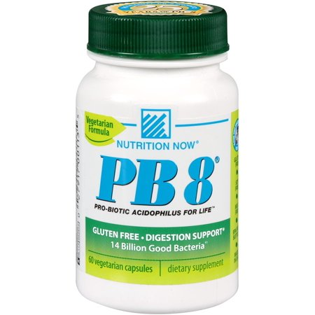 PB 8 ProBiotic Acidophilus Vegetarian Nutrition Now 120 VCaps - Walmart.com
